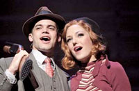 "Jeremy Jordan and Laura Osnes in the new musical ""Bonnie and Clyde"""
